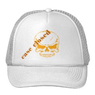 cráneo anaranjado cerrado del caso gorra