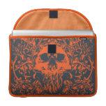 Cráneo anaranjado funda para macbooks
