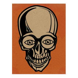 Cráneo anaranjado postal