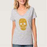 Cráneo anaranjado sonriente - mujeres divertidas playera