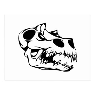 Cráneo animal postal