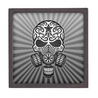 Cráneo apocalíptico del azúcar del poste gris caja de regalo de calidad
