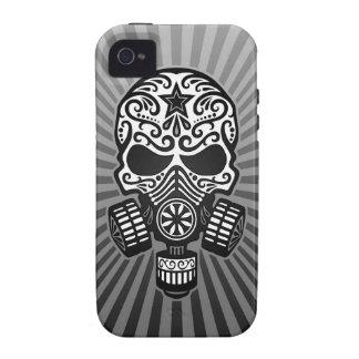 Cráneo apocalíptico del azúcar del poste gris Case-Mate iPhone 4 funda