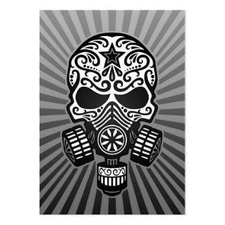 Cráneo apocalíptico del azúcar del poste, gris tarjetas de visita grandes