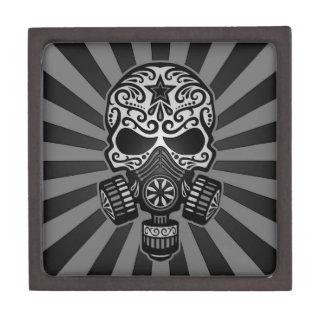 Cráneo apocalíptico del azúcar del poste negro y g caja de regalo de calidad