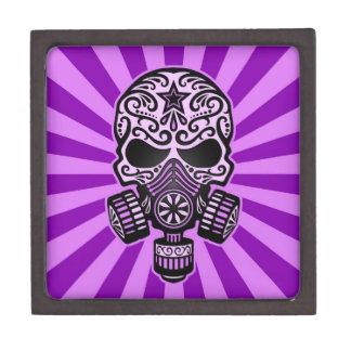 Cráneo apocalíptico del azúcar del poste púrpura caja de regalo de calidad