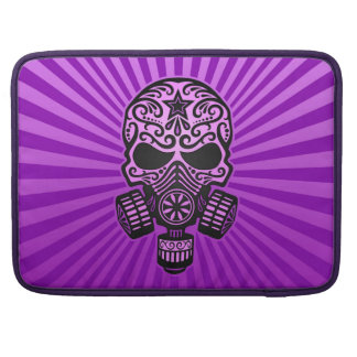 Cráneo apocalíptico del azúcar del poste, púrpura fundas para macbooks