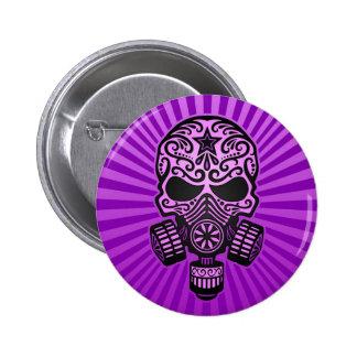 Cráneo apocalíptico del azúcar del poste, púrpura pin