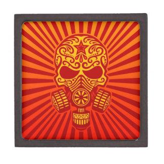 Cráneo apocalíptico del azúcar del poste rojo caja de joyas de calidad