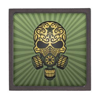 Cráneo apocalíptico del azúcar del poste verde ca cajas de regalo de calidad