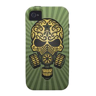 Cráneo apocalíptico del azúcar del poste verde ca iPhone 4 carcasa