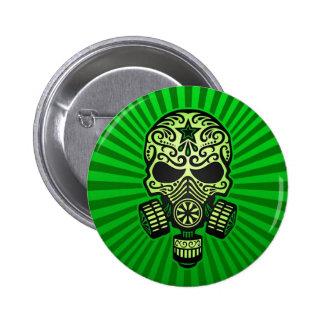 Cráneo apocalíptico del azúcar del poste, verde pin