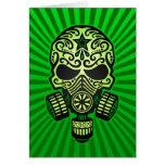 Cráneo apocalíptico del azúcar del poste, verde felicitacion