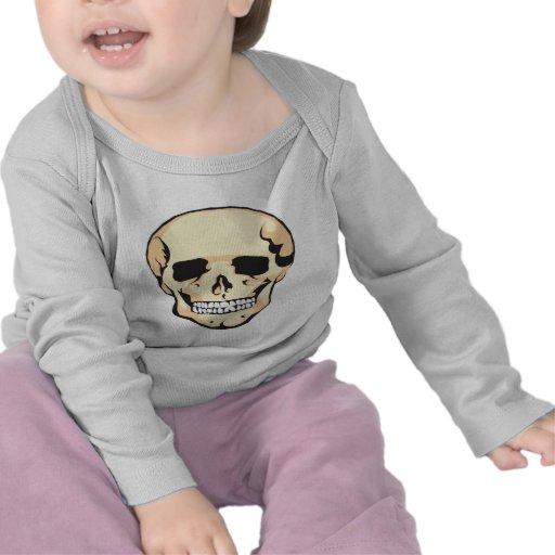 Cráneo asustadizo camisetas