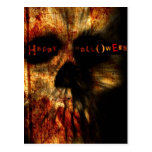 Cráneo asustadizo de Halloween Tarjetas Postales