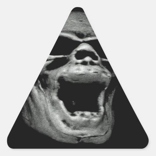 cráneo asustadizo Halloween Colcomanias De Triangulo Personalizadas