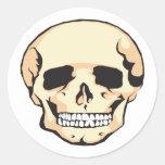 Cráneo asustadizo pegatinas