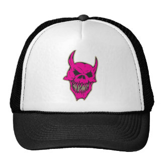 Cráneo asustadizo rosado del demonio gorras
