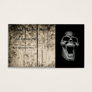 Cráneo asustadizo tarjetas de visita