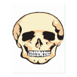 Cráneo asustadizo tarjetas postales
