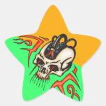 Cráneo atado con alambre del Cyborg Pegatina Forma De Estrella Personalizada