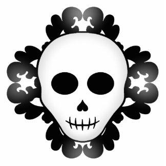 Cráneo atractivo gótico femenino lindo Halloween Imán Fotoescultura