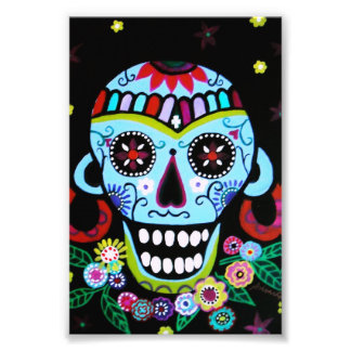 Cráneo Azteca de Dia de los Muertos Native Cojinete