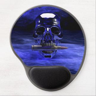Cráneo azul alfombrilla con gel