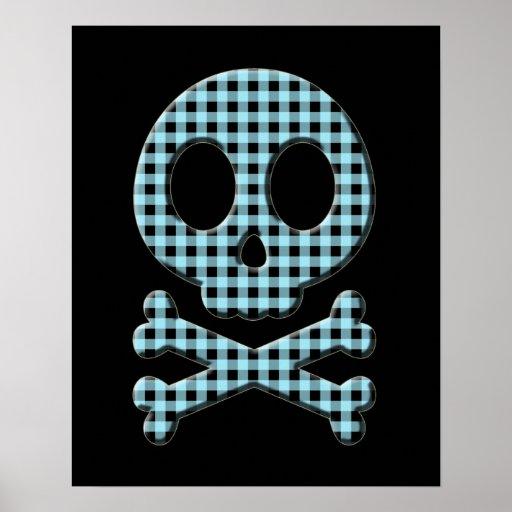 Cráneo azul de la guinga póster