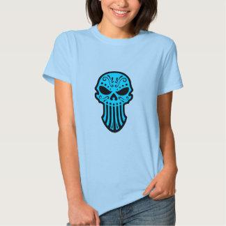 Cráneo azul del azúcar camisas