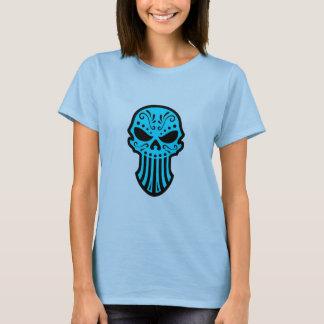 Cráneo azul del azúcar playera