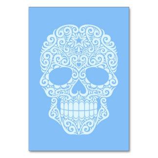 Cráneo azul del azúcar que remolina