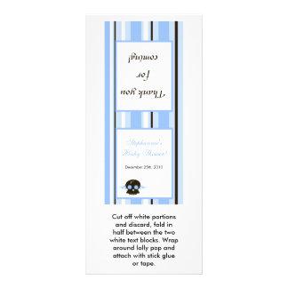 Cráneo azul del eje de balancín punky del muchacho diseño de tarjeta publicitaria