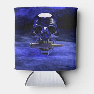 Cráneo azul enfriador de latas