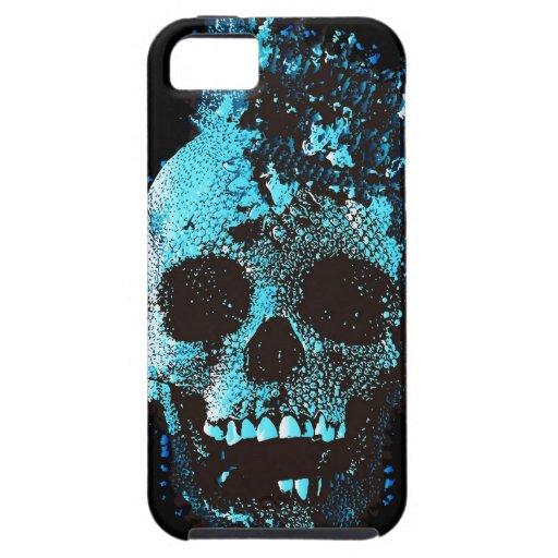 Cráneo azul funda para iPhone SE/5/5s