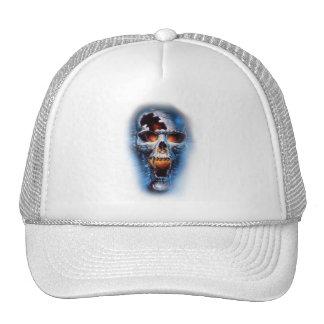 cráneo azul malvado estático del tumblr gorras de camionero