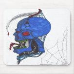 Cráneo azul Mousepad Tapetes De Raton