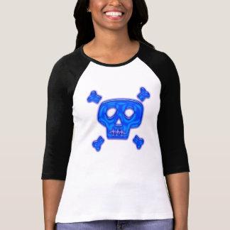 Cráneo azul t-shirt