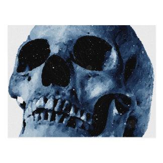 Cráneo azul postal
