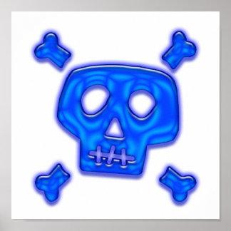 Cráneo azul póster