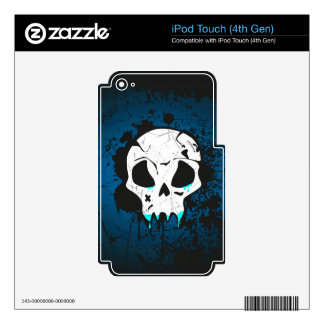 Cráneo azul skins para iPod touch 4G