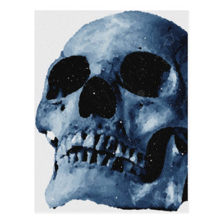 Cráneo azul tarjeta postal