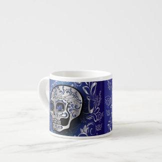 Cráneo azul y de plata del zafiro caprichoso