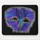 Cráneo azul y púrpura alfombrillas de ratón
