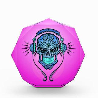 Cráneo, azul y púrpura del azúcar de DJ