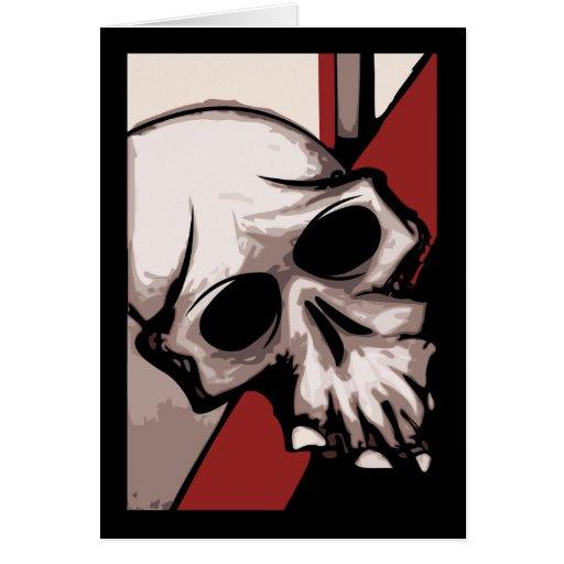 Cráneo B&R Tarjeta De Felicitación