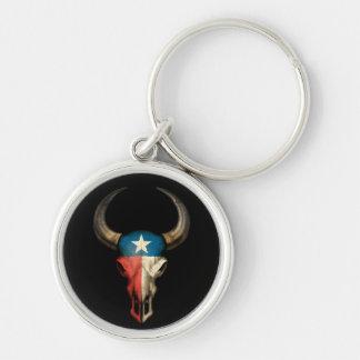 cráneo black.jpg del toro de Tejas Llavero