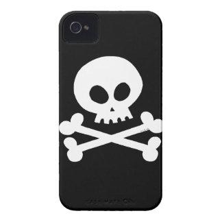Cráneo blanco Case-Mate iPhone 4 protectores