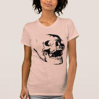 Cráneo blanco negro camiseta