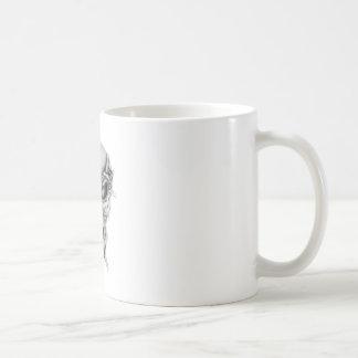 Cráneo blanco tazas de café